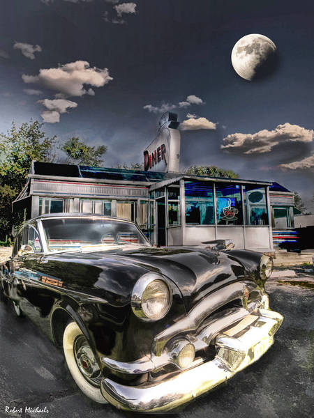 1953 Packard Clipper And An Old Diner